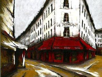 風景画 パリ 油絵「詩人たちの街 2019」の画像