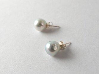 【Akoya Pearl pierced earrings b】の画像