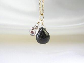 14kgf モリオン黒水晶 & スーパーセブン ツインネックレス 天然石の画像