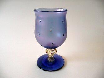 ドット・ワイングラス(青紫)の画像