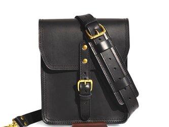 【20%OFF 在庫処分セール】タブレットバッグ(ブラック) iPad レディース メンズ 斜めがけ レザー 皮 革の画像