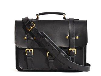 25%OFF 大型ブリーフケース(ブラック)大容量 大きめ 皮 革 レザー メンズ レディース ショルダー 通勤 牛革の画像