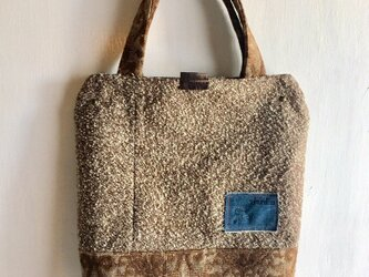 tote bag/ヴィンテージ ツイードのトートバッグ    ■tf-306の画像