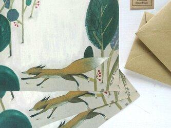 ミニレターセット/ 静かなキツネの森の画像