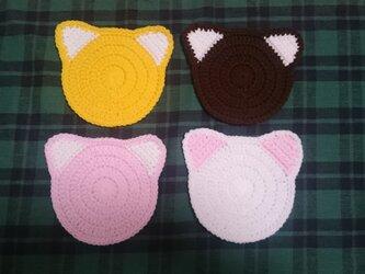 猫コースター4枚セットの画像