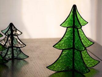 ステンドグラス クリスマスツリー a (大)の画像