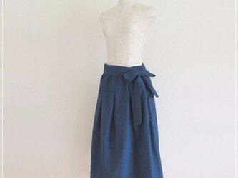 navy* リボンつきギャザースカートの画像