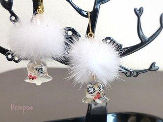 アリス☆白うさぎのクリスマスピアス&イヤリング ホムポムの画像