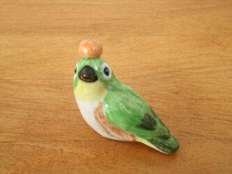 みかん乗せメジロ 花小鳥/小(陶)の画像