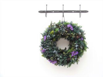 green wreath -lavender-の画像
