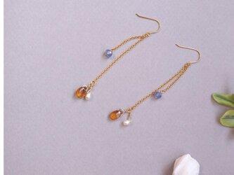 Tricolor Chain Earring ピアスの画像