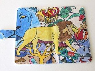 手帳型スマホケース「ライオン」 <受注製作>納期14日予定の画像