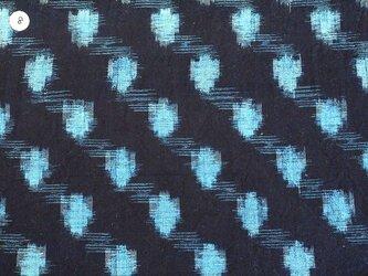 hp0026 絣木綿ハギレ08☆古布・古裂/筒描き/型染め/藍染/の画像