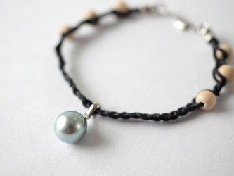 【Tahitian Pearl bracelet navy 】の画像