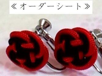 ≪オーダーシート≫正絹組紐釈迦イヤリングの画像