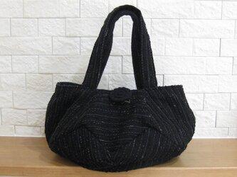 ウールのまんまるバッグ~ラメ入りブラック~の画像