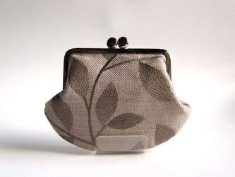 がま口:木の葉刺繍(英国製)の画像
