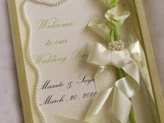 ウェディング ウェルカムボード(カラー) サンクスボードにも モダン 結婚式/ 受注製作の画像