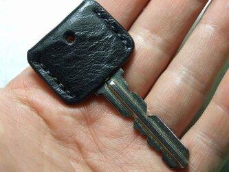 黒のキーカバー 黒ステッチの画像
