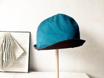 HELMA HAT | CORDUROY×SUEDE PEACOCKの画像