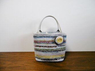 ウールの細編みトートバッグ 78-1の画像