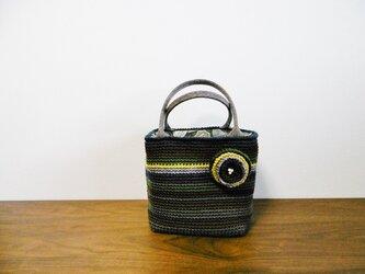 ウールの細編みトートバッグ 78-2の画像