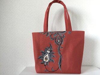 帯バッグ〜モダンなお花〜の画像