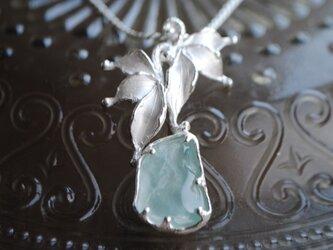 氷上の舞(アクアマリン原石)ペンダントの画像