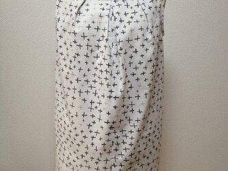 【sale!】浴衣地スモックブラウス(変わり十字柄)の画像