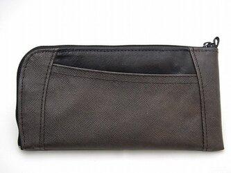 ハーフラウンド型 長財布(エンボス チョコ茶)の画像