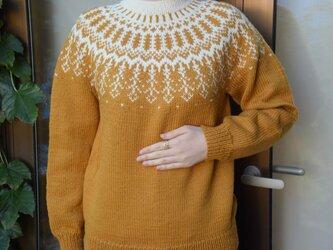 SALE 山吹色のラインセーターの画像
