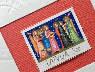 ちいさなartmuseum Latvia stamp 2setの画像
