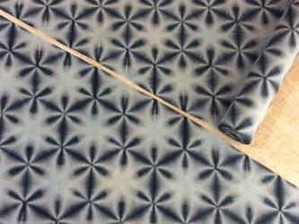 雪花絞り木綿反物12.8m スレン黒の画像