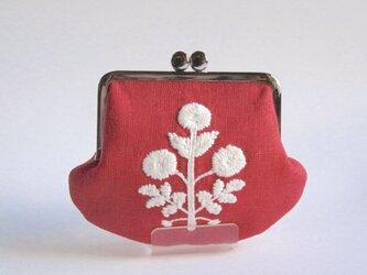 再販・がま口:花の刺繍(アメリカ製)の画像