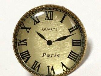 世界の飾りボタン モントル ピンブローチ ゴールド[mazp-107]の画像