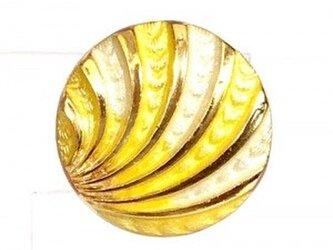 世界の飾りボタン ピンブローチ イエロー[mazp-093]の画像
