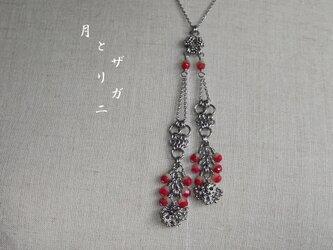 銀の花*木苺  サージカルステンレスの鎖 の画像