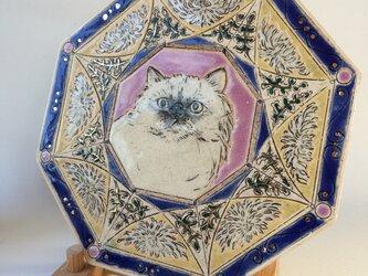 SALE!レトロなチンチラと白菊のプレートの画像