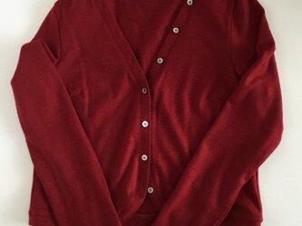 ウールの丸い裾のボレロの画像