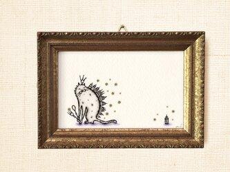 ミニ額縁 原画【 コレクション 】星ふる夜のものがたり mini frame ver.の画像