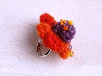 【orange/purple】NitFlower RINGの画像