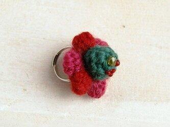 【pink/green】NitFlower RINGの画像