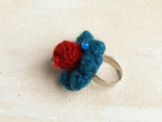 【blue/red】NitFlower RINGの画像