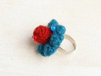 【blue/red】NitFlower RINGの画像