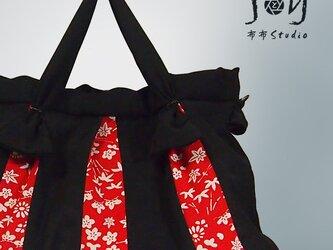 赤と黒の古布遊びツーウェイバッグ【1点もの】の画像