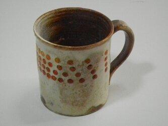 百色(ももいろ)象嵌 マグカップ 赤玉の画像