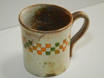 百色(ももいろ)象嵌 マグカップ 市松の画像