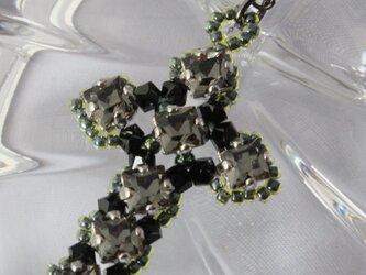 クロスモチーフネックレス~ブラックダイヤモンドの画像