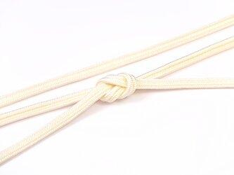 帯締めゆるぎ組(玉子色)正絹の画像