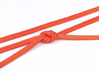 帯締めゆるぎ組(赤橙)正絹の画像
